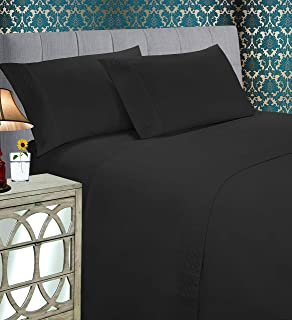 Elegant Comfort Luxury Best, Soft Coziest 4-Piece Bed Set 1500 Thread Count Egyptian Quality |Quilted Design on Flat Sheet...