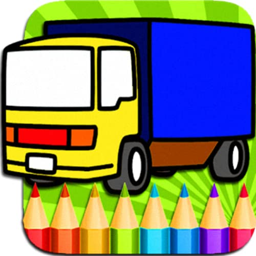 Truck and Car Coloring Book - Drawing Page for Kids