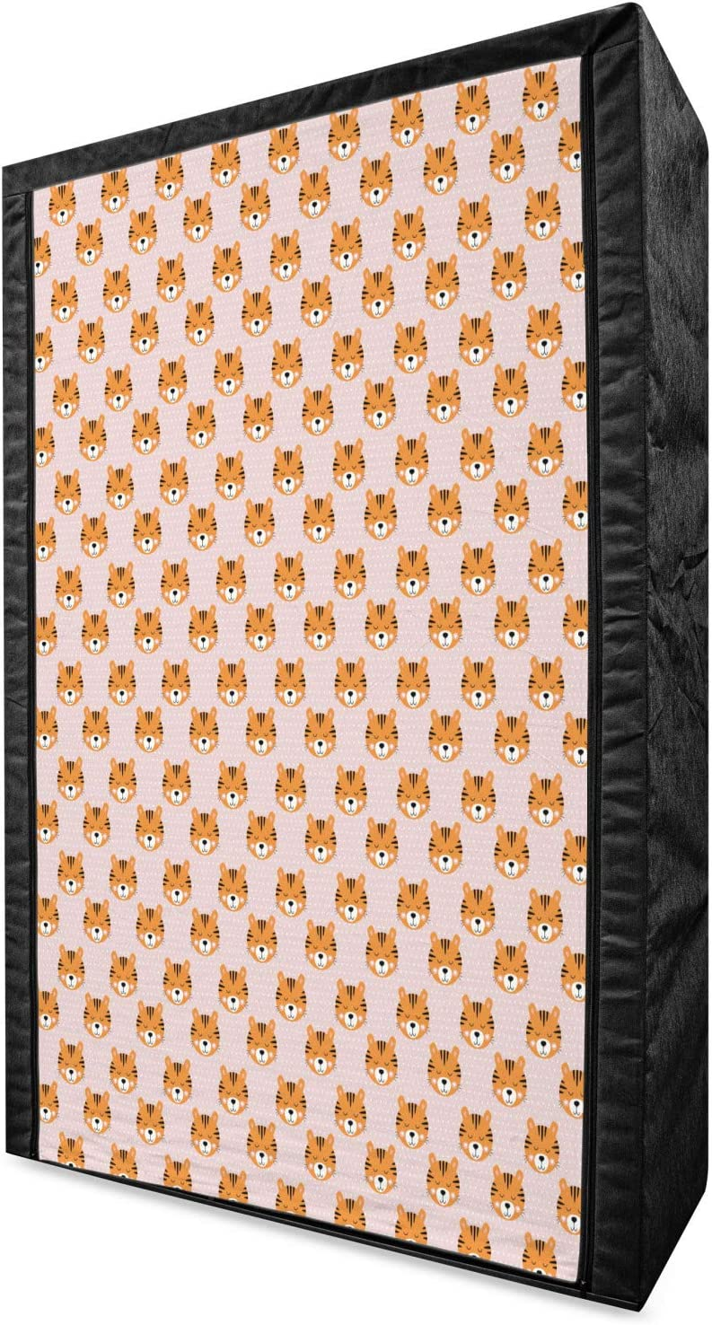 Ambesonne Nursery Portable Fabric I Repetitive Wardrobe Kansas City Mall Pattern Max 48% OFF