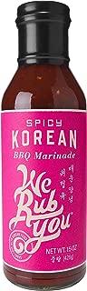 We Rub You Spicy Korean Barbeque Marinade, 15 Ounce - 6 per case.