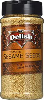 Gourmet Toasted Sesame Seeds by Its Delish, 9 Oz. Medium Jar