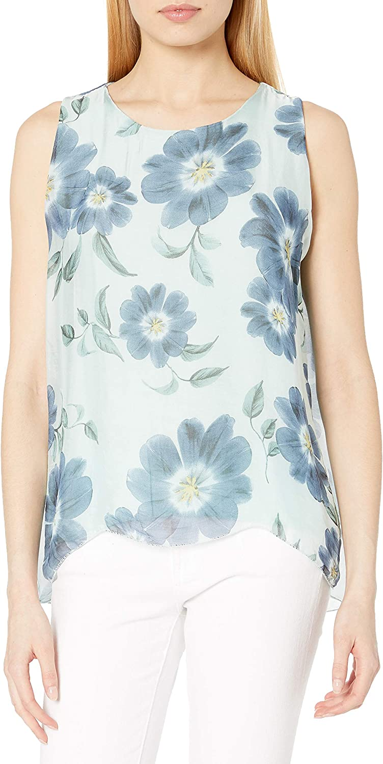 M Made in Italy Women's Sleeveless Floral Top