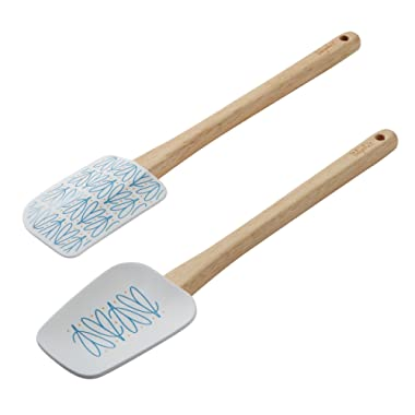 Ayesha Collection Spatula Spoonula Set, 11.5-Inch, Two Piece, Mix Colors - 47010