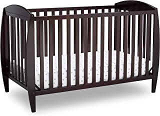 Delta Children Twinkle 4-in-1 Convertible Baby Crib, Easy to Assemble, Sustainable New Zealand Wood, JPMA Certified, Dark ...