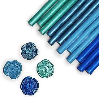 Glue Gun Sealing Wax 12PK-Caribbean Blue- Pearl Jade, Electric Blue, Teal, Pastel Turquoise - Assortment Saver Pack