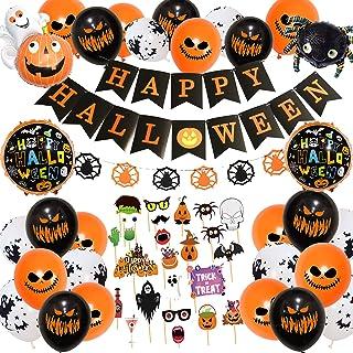 Halloween decoratie, Halloween slinger, Halloween ballonnen, Happy Halloween decoratie folieballonnen slinger, ballonnen v...