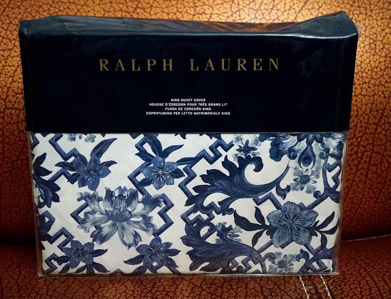 Ralph Lauren Dorsey Duvet Cover, King, bluee
