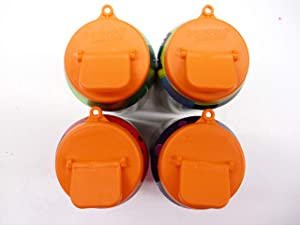 Beverage Buddee Can Cover - Best Can Cover For Standard Size Soda/Beer/Energy Drink Cans - Made In The USA - BPA-PCB Free - 4 pack(Orange)