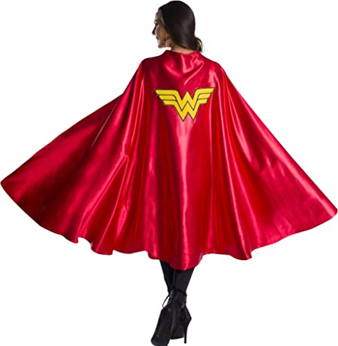 Rubie's Women's DC Comics Deluxe Wonder Woman Cape, As Shown, One Size