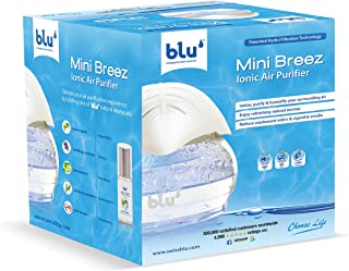 Mini Breez Ionic Air Purifier- Removes Airborne Viruses, Natural Immune System Booster, Eliminates Allergens & Odors, Ther...