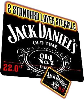 2x JACK DANIELS Airbrush Stencils 1 Layer 22x15