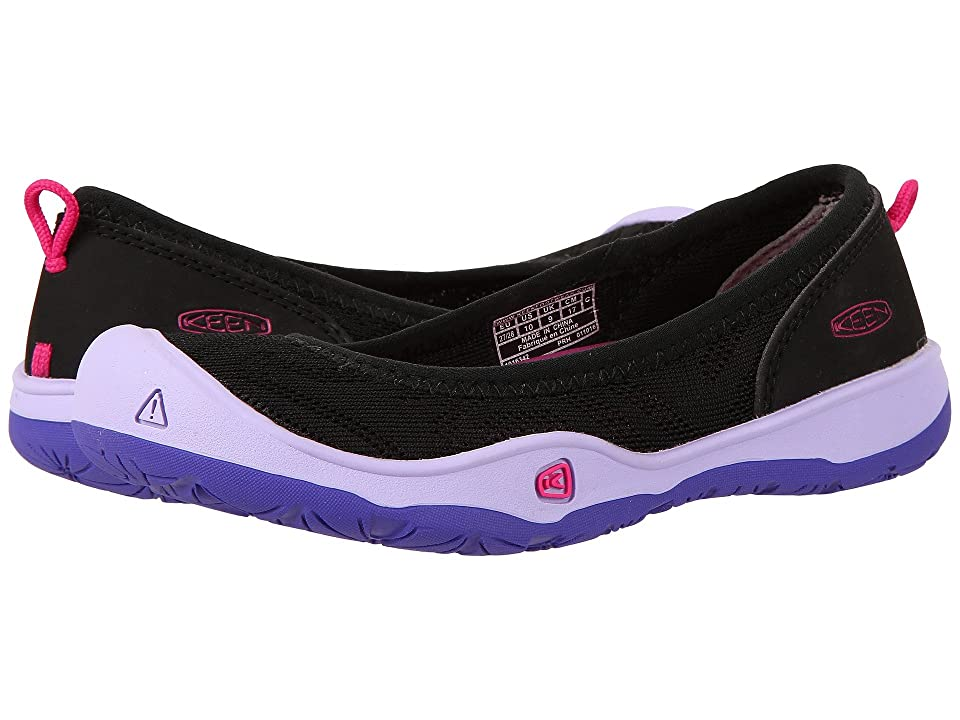Keen Kids Moxie Flat (Toddler/Little Kid) (Black/Liberty) Girl