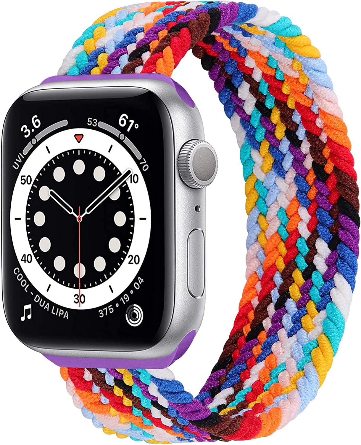 Stretchy Solo Loop Strap Compatible with Apple Watch Bands 38mm 40mm 42mm 44mm, Nylon Stretch Braided Sport Elastics Weave Women Men Wristband Compatible for iWatch SE Series 6 5 4 3 2 1