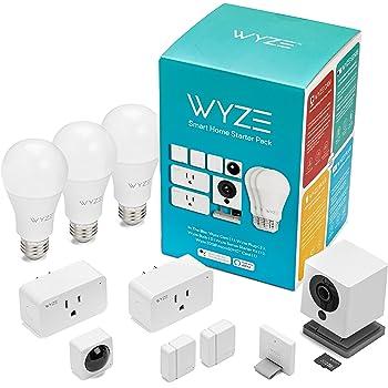 Amazon Com Wyze Smart Home Camera 1080p Hd Wi Fi Audio Recording Built In Speaker White Camera Photo
