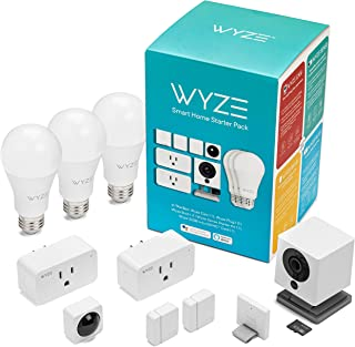 Wyze Smart Home Starter Pack Includes: Wyze Cam, Wyze Sense Starter Kit, Wyze Bulbs, Wyze Plugs, and Wyze SD Card