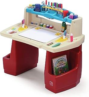 Step2 Deluxe Art Master Bureau & Chaise d'enfant   Table de créativité en plastique avec espace de rangement