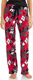 DC Comics Harley Quinn Red Superminky Fleece Lounge Sleep Pants