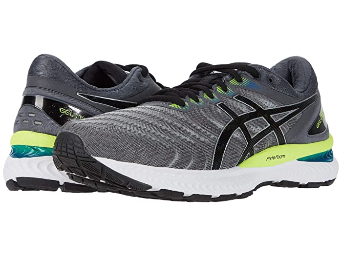 ASICS  GEL-Nimbus 22 (Piedmont Grey/Black) Mens Running Shoes