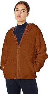 Daily Ritual Amazon Brand Women's Teddy Bear Fleece Hooded Zip Jacket