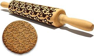 دبوس منقوش منقوش بقلوب ونظارات بحجم 43.18 سم كبير متعدد الأغراض النقش صديقة للبيئة أداة إكسسوارات الخبز مصنوعة طبيعياً للح...