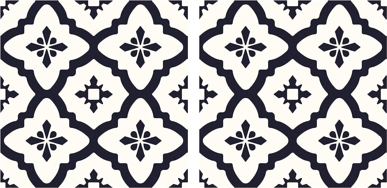 FloorPops FP2480 Comet Peel Stick Black Tiles Decal Т Floor 67% Special sale item OFF of fixed price