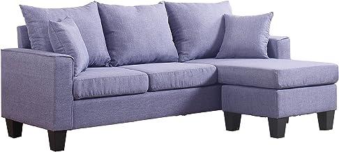 Divano Roma Furniture Modern Sectional, Light Grey