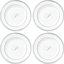 Lenox Federal Platinum Script Monogram Dinnerware Tidbit Plates, Set of 4, P