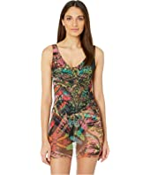 FUZZI - Cross Stitch Tulle Print One-Piece