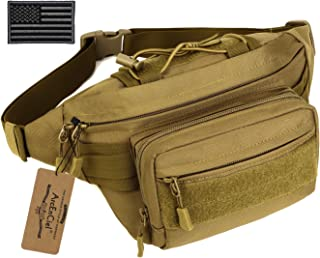ArcEnCiel Tactical Fanny Pack for Men Waist Bag Military Hip Belt Outdoor Hiking Fishing Bumbag with Patch