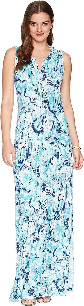 99550cc6ffc Lilly Pulitzer Kelsea Silk Maxi Dress at Zappos.com