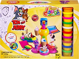 Bingo Dough with Twister Ice Cream Maker, 10 Pieces - Multi Color