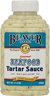 Beaver Seafood Tartar Sauce, 11.5 Ounce Squeeze Bottle (Pack of 6)