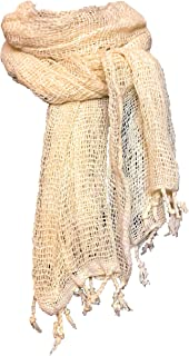 Handmade Womens Scarves - 100% Cotton Scarf Long and Sheer Shawls and Wraps - 20 x 64 inch