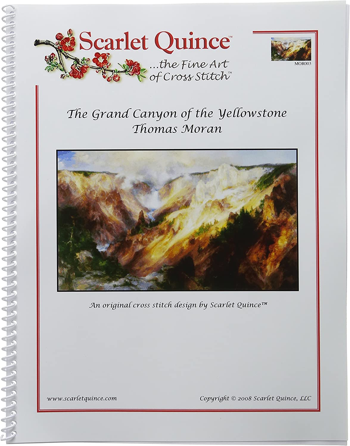 Scarlet Quince MOR003lg The Grand Canyon of the Yellowstone by Thomas Moran Counted Cross Stitch Chart Large Size Symbols