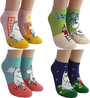 DASOM, Moomin Calcetines Mujer Zapatillas