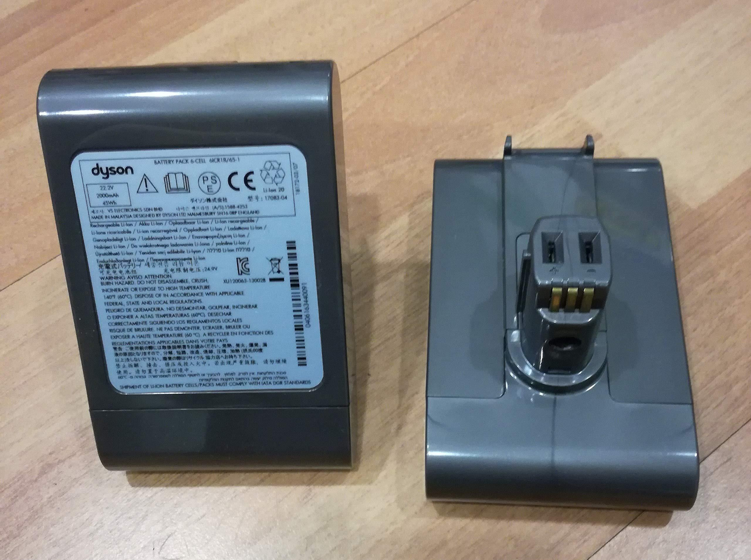 Batería para aspiradora original Dyson DC45 17083-04 917083-04, 22,2 V, 2000 mAh, 45 Wh, batería de iones de litio: Amazon.es: Electrónica