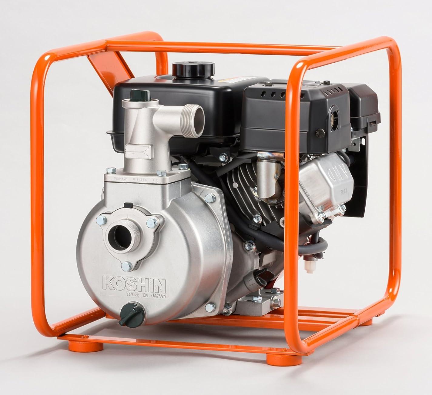 騒ぎ好ましいグラム工進 4サイクル エンジンポンプ ハイデルスポンプ SEM-40GB 40mm(1?1/2インチ) ミツビシエンジン搭載