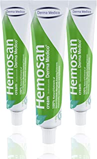 HEMOSAN 3 PACK - Fast Relief Cream Itching, Anal Fissures,