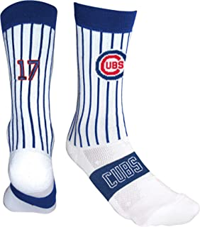 PKWY by Stance MLB Unisex 1-Pack Chicago Bears Uniform Player Number Crew Socks (Kris Bryant 17)