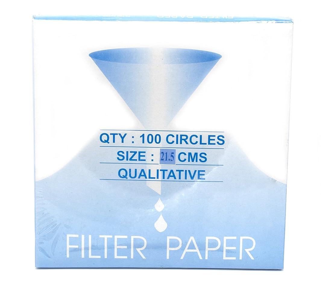 Eisco Labs Premium Qualitative Filter Paper, 21.5cm Dia., Medium Speed (85 gsm), 10 (10 micron) Pore Size - Pack of 100 …