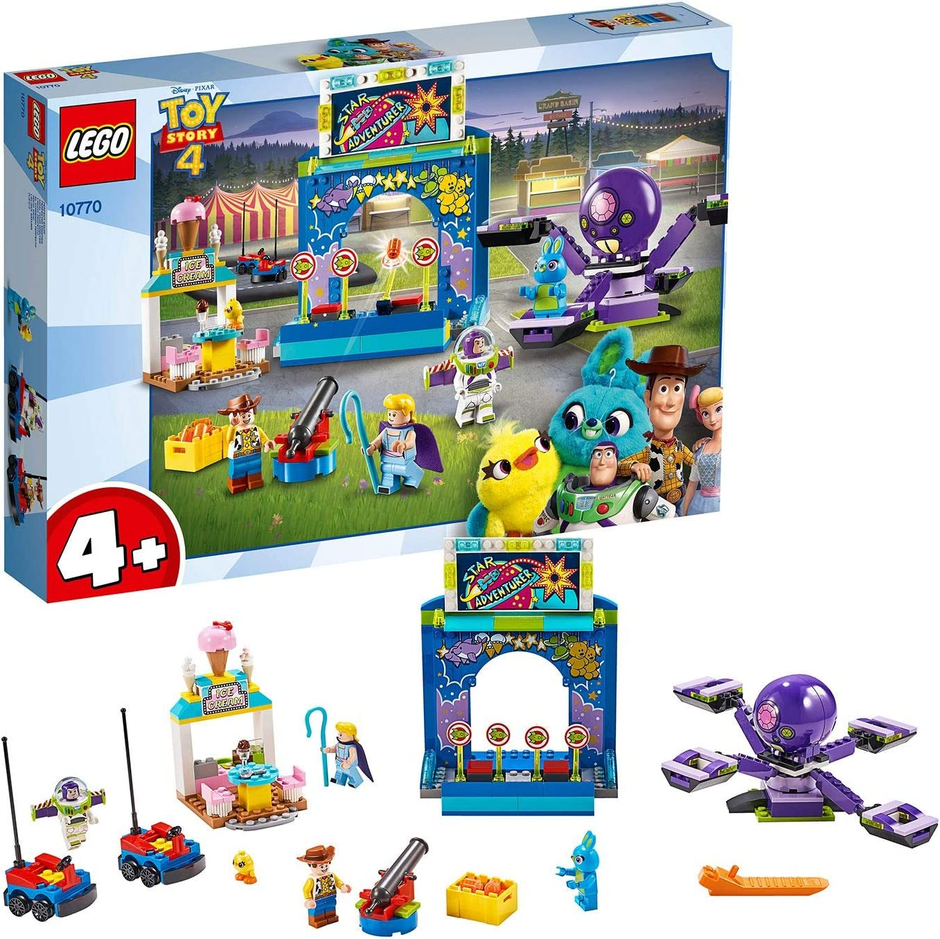 LEGO 10770 4+ Limited Special Price Toy Story 4 Buzz B Mania and Carnival with Woody's Safety trust