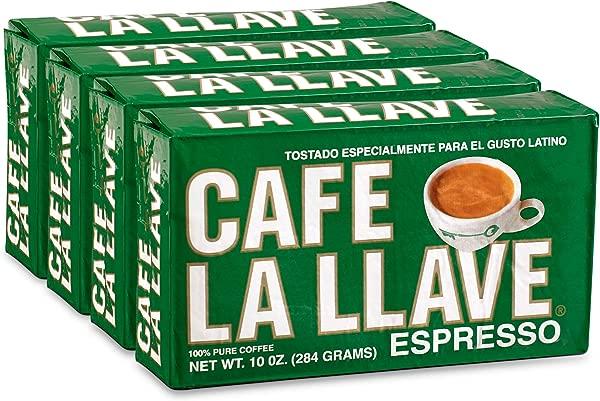 Caf La Llave Espresso Coffee Dark Roast 4 X 10 Ounce Bricks