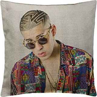 Bad Bunny Rapper P234 Funny Pillow, Throw Pillow for Home Office Decor, Cover Linen Lined Pillow Case, Cute Decorative Couch Pillow, House Warming Presents (Cover + Insert)