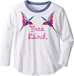 Chaser Kids - Long Sleeve Super Soft Free Bird Tee (Little Kids/Big Kids)
