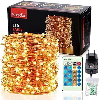 LED Cadena de Luces - Speclux 30M 300 LED Luces de Hadas, Alambre de Cobre IP65 Impermeable, Guirnalda de Luces Exterior/I...