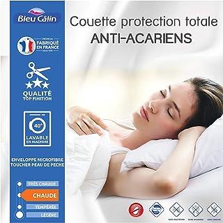 Bleu Calin Couette Protection Totale Anti acariens Sanitized 400 GR/m² (Couette Anti acariens Blanche, 140 x 200 cm pour l...