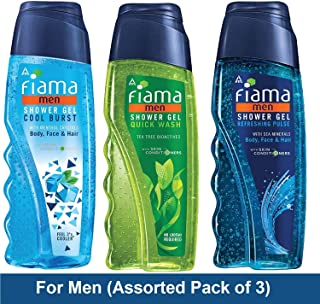 Fiama Shower Gel for Men, Multi Variant, 250 ml (Pack of 3)