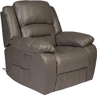 RelaxZen Lincoln Power Massage Recliner, Grey