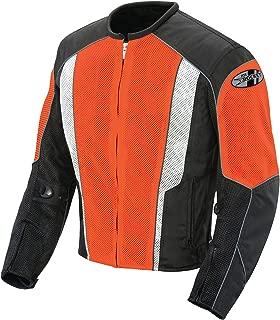Joe Rocket Phoenix 5.0 Men's Mesh Riding Jacket (Orange, Large)