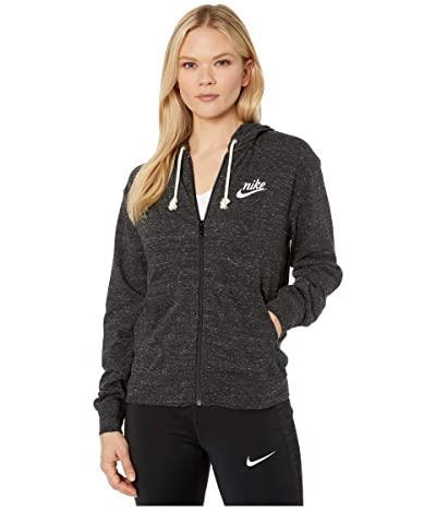 Nike NSW Gym Vintage Hoodie Full Zip (Black/Sail) Women